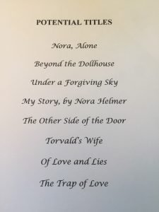 potential titles for my book Searching for Nora