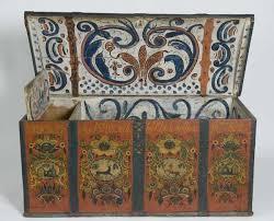 Norwegian immigrants, Norwegian-Americans, rosemaled chest, Norwegian crafts